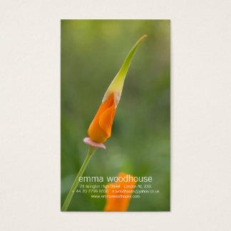 Orange California Poppy Bud Business Card