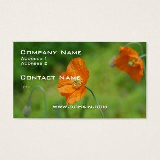 Orange California Poppy Business Card