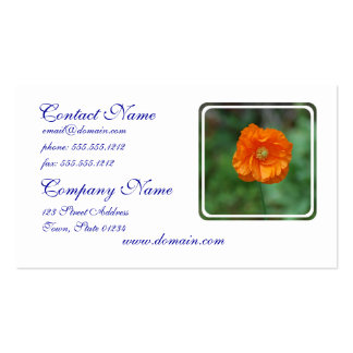 Orange California Poppy Double-Sided Standard Business Cards (Pack Of 100)