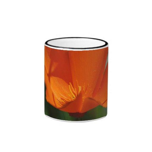 Orange California Poppy Mug