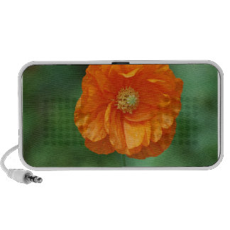 Orange California Poppy Notebook Speaker