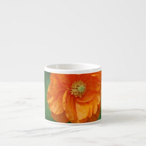 Orange California Poppy Espresso Cup