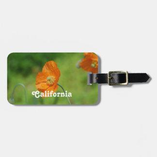 Orange California Poppy Tag For Luggage