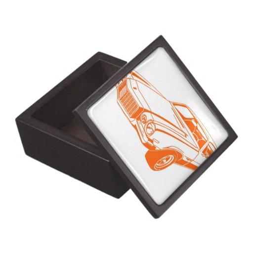 Orange Camaro Premium Trinket Box