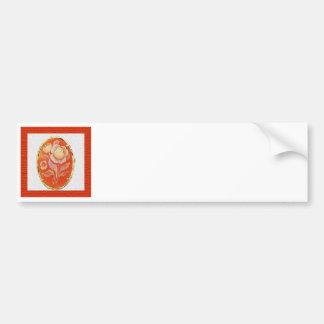 Orange Cameo Bumper Sticker