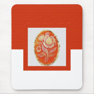 Orange Cameo Mouse Pad