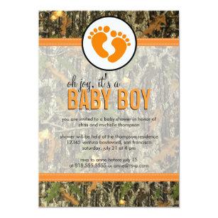 Camo baby shower invitations zazzle orange camo baby boy shower invitation filmwisefo