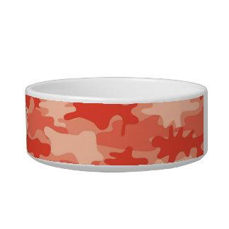 Orange Camo Camoflauge Custom Pet Bowl