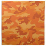 Orange Camo, Camouflage Cloth Napkin