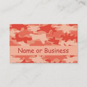 Camouflage business cards templates zazzle orange camo camouflage name personalized business card colourmoves