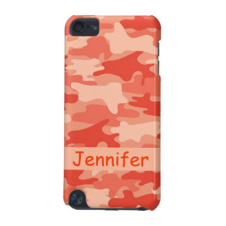Orange Camo Camouflage Name Personalized iPod Touch (5th Generation) Covers