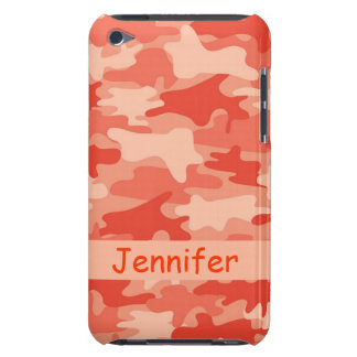 Orange Camo Camouflage Name Personalized iPod Touch Cover