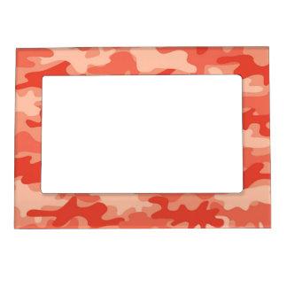 Orange Camo Camouflage Name Personalized Magnetic Photo Frame