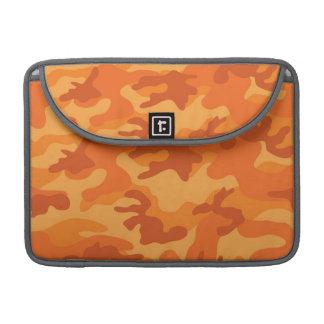 Orange Camo, Camouflage Sleeves For MacBook Pro