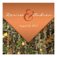 Orange Camo Wedding Invitations (<em>$2.10</em>)