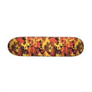 "Orange Camouflage 7 1/4"" Skateboard"