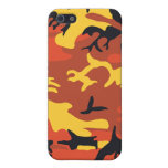 Orange Camouflage Covers For iPhone 5