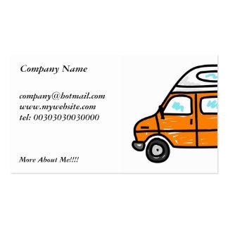 Orange Campervan Business Cards