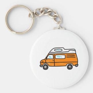 Orange Campervan Keychains