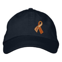 Orange Cancer ADHD Hope Ribbon Awareness Embroidered Baseball Hat