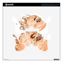 Orange Cancer Horoscope Crab PS3 Controller Skin