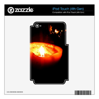 Orange Candle iPod Touch 4G Skins