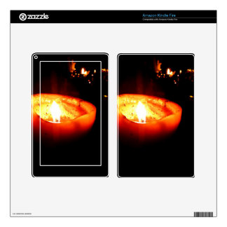 Orange Candle Kindle Fire Decals