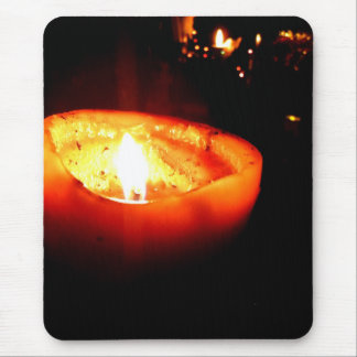Orange Candle Mouse Pad