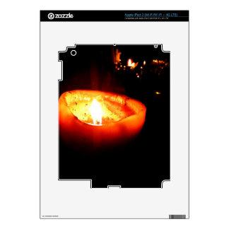 Orange Candle Skins For iPad 3