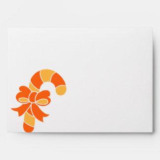 Orange Candy Cane Envelope