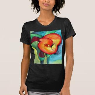 Orange Canna lily original watercolor art T-Shirt