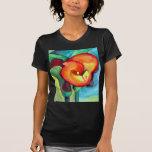Orange Canna lily original watercolor art Tee Shirts