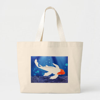 Orange Capped Kohaku Koi in Blue Lagoon Bag