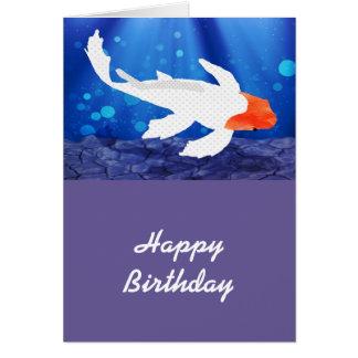 Orange Capped Kohaku Koi in Blue Lagoon Cards