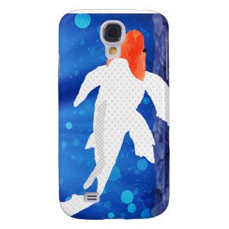 Orange Capped Kohaku Koi in Blue Lagoon Galaxy S4 Cases