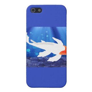 Orange Capped Kohaku Koi in Blue Lagoon Covers For iPhone 5