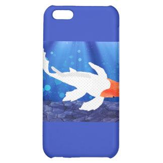 Orange Capped Kohaku Koi in Blue Lagoon iPhone 5C Case