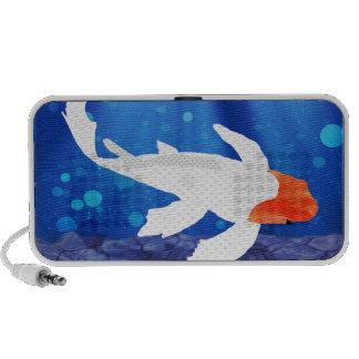 Orange Capped Kohaku Koi in Blue Lagoon Mp3 Speakers
