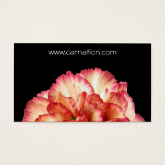 Orange Carnation Business Card Template