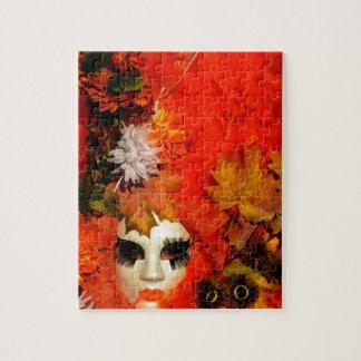 Orange Carnival Costume Jigsaw Puzzle