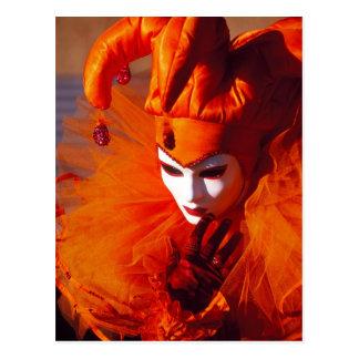 Orange Carnival Costume - Venice, Italy (IT) Postcard