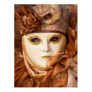 Orange Carnival costume, Venice Postcard