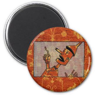 Orange Carpet Tin Man Magnet