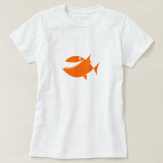 Orange Cartoon Fish Shirt