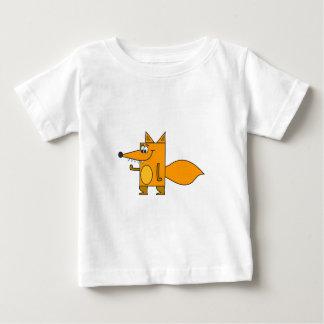 Orange Cartoon Fox Baby T-Shirt