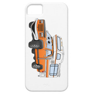 Orange Cartoon Pick Up Camper iPhone SE/5/5s Case