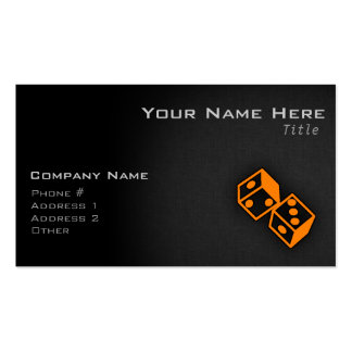 Orange Casino Dice Double-Sided Standard Business Cards (Pack Of 100)