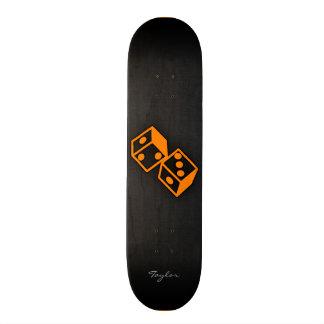 Orange Casino Dice Skateboard