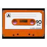 Orange Cassette Tape Greeting Card