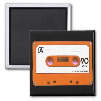 Orange Cassette Tape Magnet